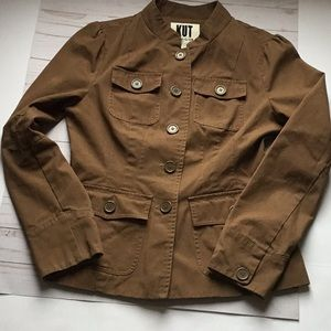 Kut from the Kloth brown canvas jacket